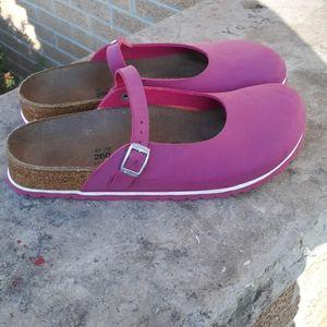Birki's Maria Pink Mary Jane Clogs